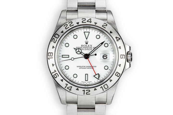 2002 Rolex Explorer II 16570 White Dial photo