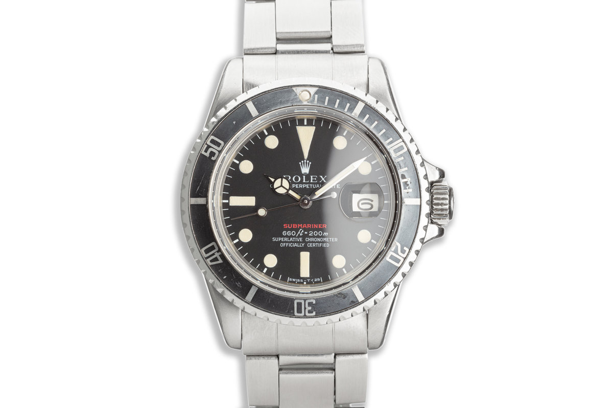 1971 Vintage Rolex MK IV Red Submariner 1680 with Box & Papers photo, #0