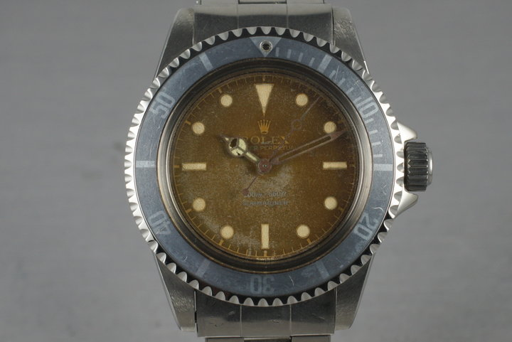 1962 Rolex Submariner 5512 PCG with Tropical Chapter ring dial photo