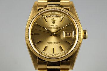 1982 Rolex YG Day Date18038 photo