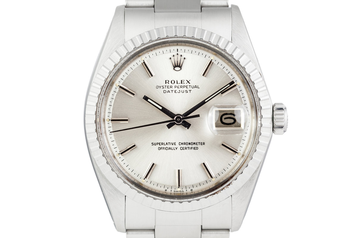 1973 Rolex DateJust 1603 Silver Dial with Service Papers photo, #0