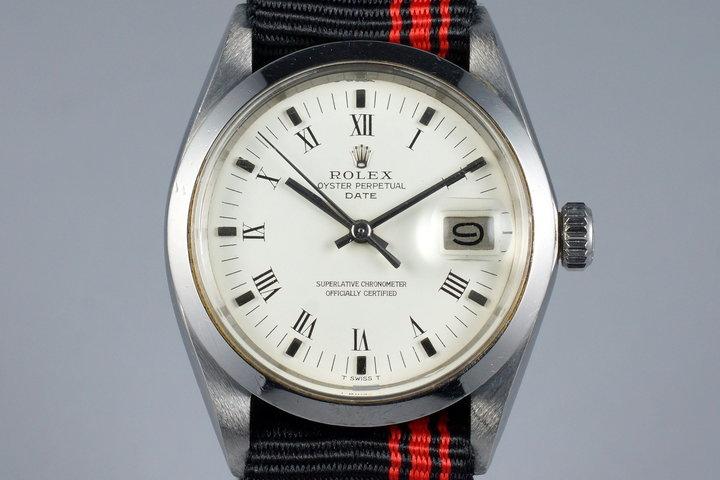 1967 Rolex Date 1500 White Roman Dial photo