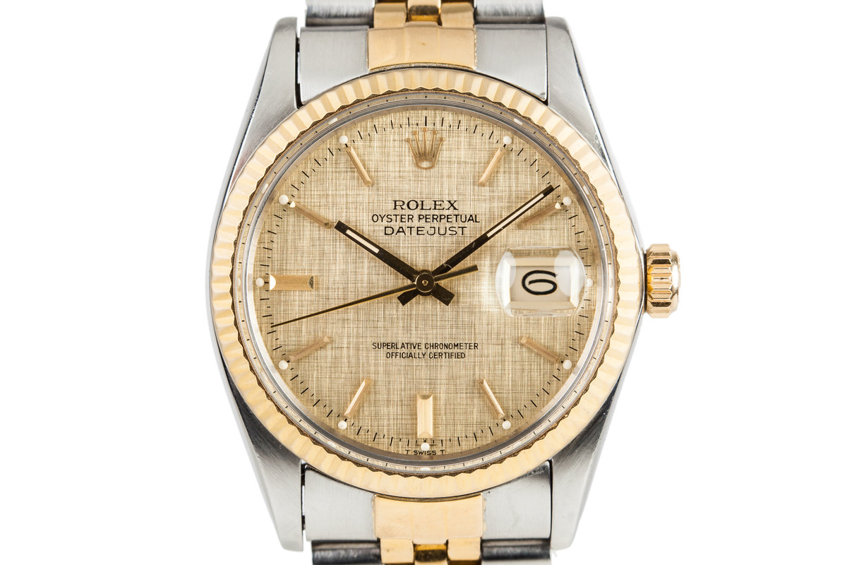 1984 Rolex DateJust 16013 with Gold Linen Dial photo, #0