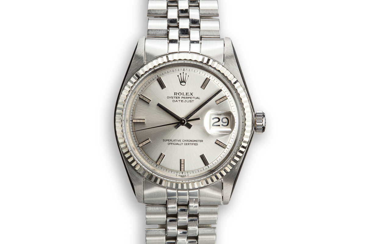 1970 Rolex DateJust 1601 with Silver No Lume Dial photo, #0