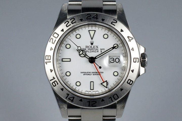 2007 Rolex Explorer II 16570 White Dial photo