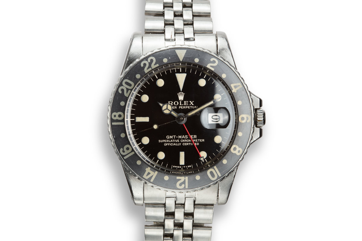 1965 Rolex GMT-Master 1675 Gilt Dial with Faded Black Fat Font Insert photo, #0
