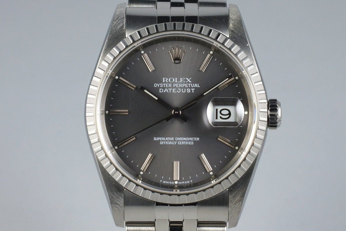 2001 Rolex DateJust 16220 Gray Dial photo, #0