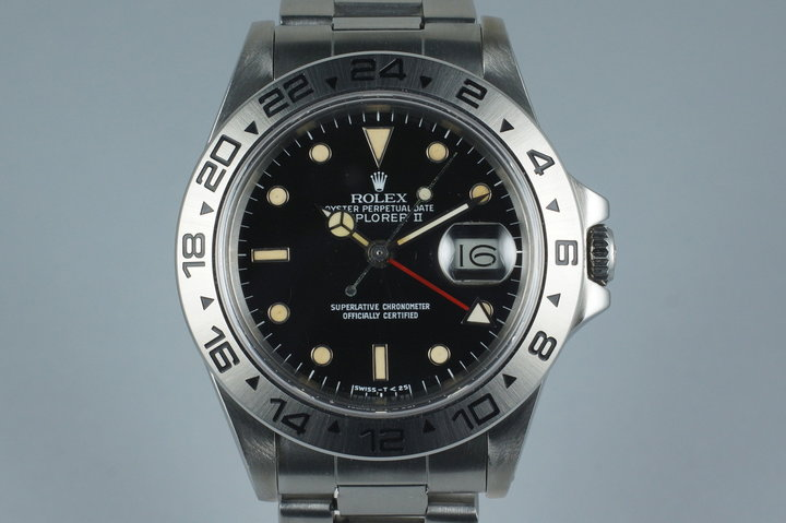 1984 Rolex Explorer II 'Spider' Rail Dial 16550 with Service Papers photo