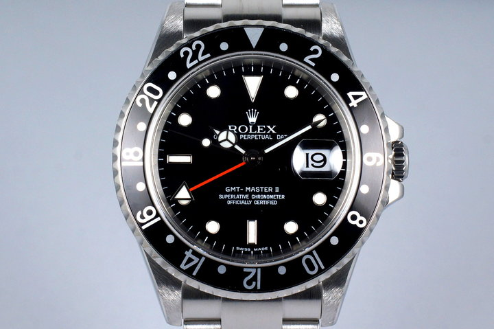 2006 Rolex GMT II 16710 with Box and Papers photo