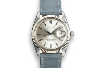 1964 Rolex DateJust 1601No Lume Silver Dial photo