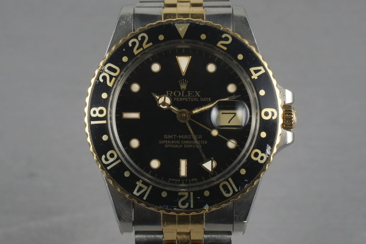 Rolex GMT Two Tone 16753 with Black Dial photo