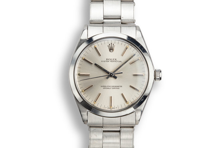 1968 Rolex Oyster Perpetual 1002 Silver Dial photo