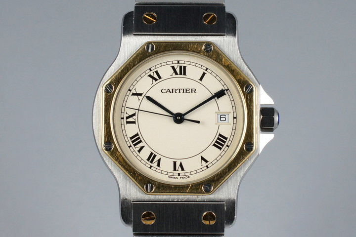 Cartier Ladies Quartz Two Tone Santos Octagon 187902 photo