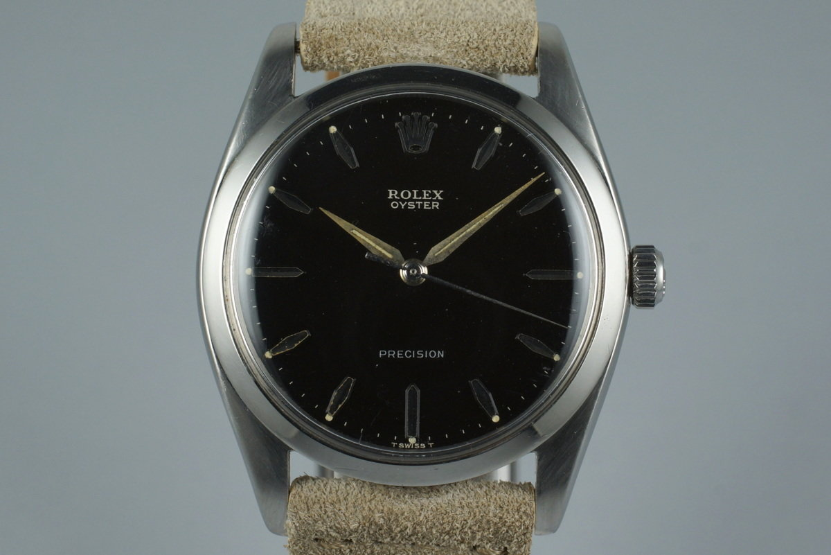 1961 Rolex Oyster Precision 6424 with Black Gilt Dial photo, #0