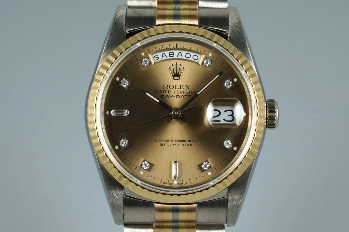 1989 Rolex Day-Date 18239B TRIDOR with Factory Diamond Dial photo, #0