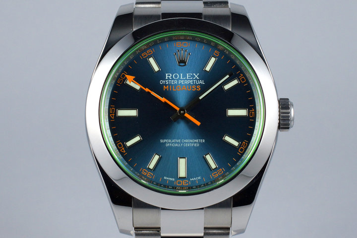 2016 Rolex Milgauss 116400GV with Box and Papers photo