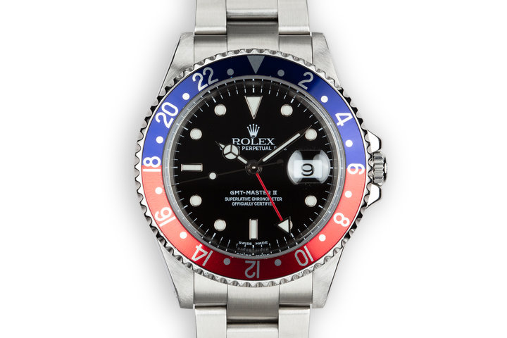 "2000 Rolex GMT-Master II ""Pepsi"" 16710 with Box and Papers photo"
