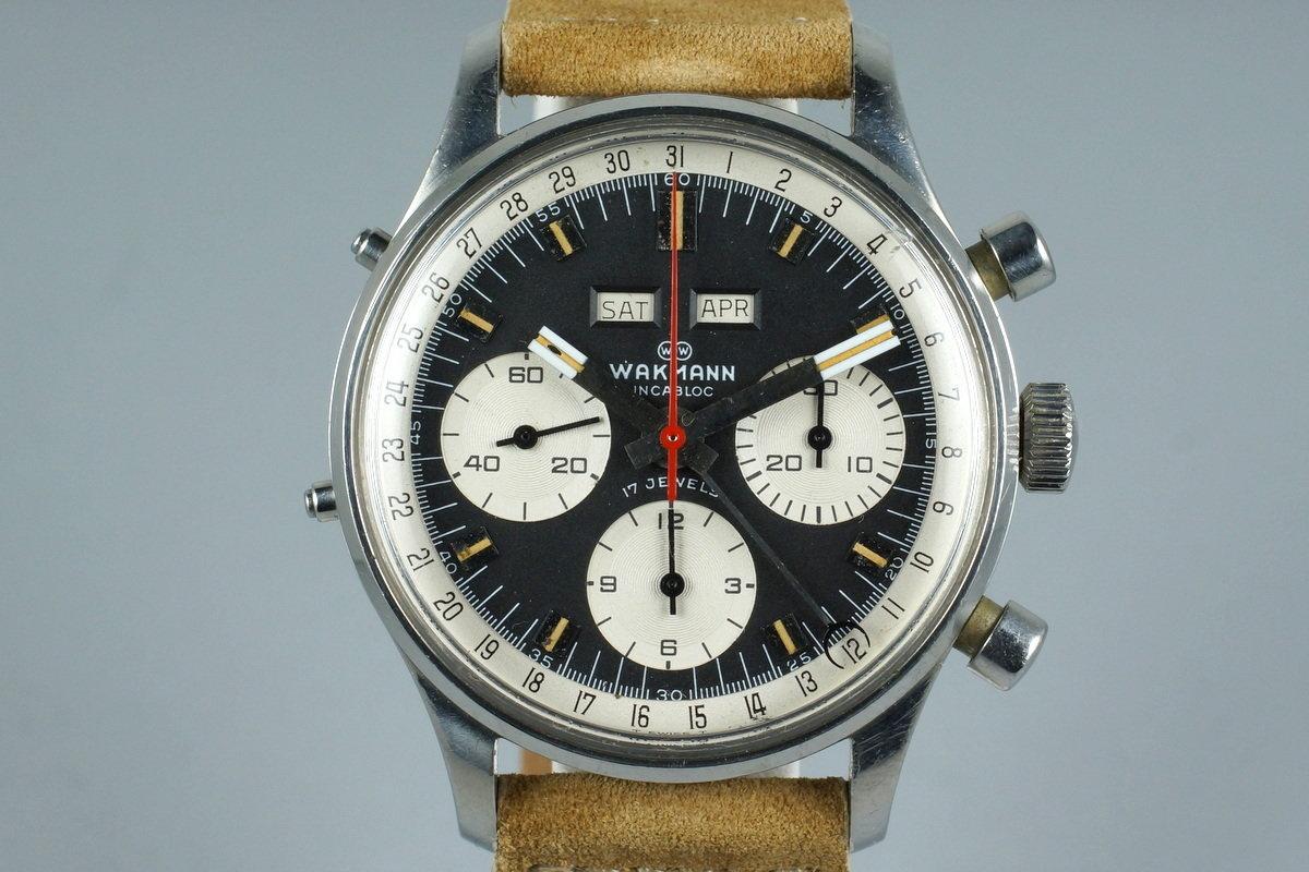 1960's Wakmann Incabloc Triple Date Chronograph 71.1309.70 photo, #0