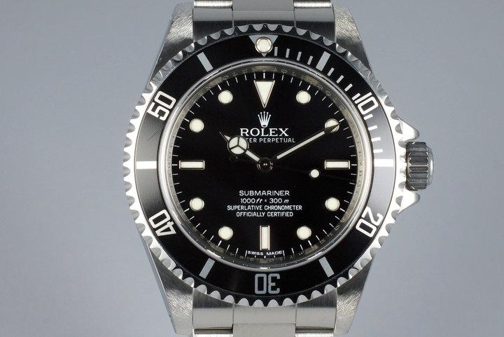 2012 Rolex Submariner 14060M 4 Line Dial photo