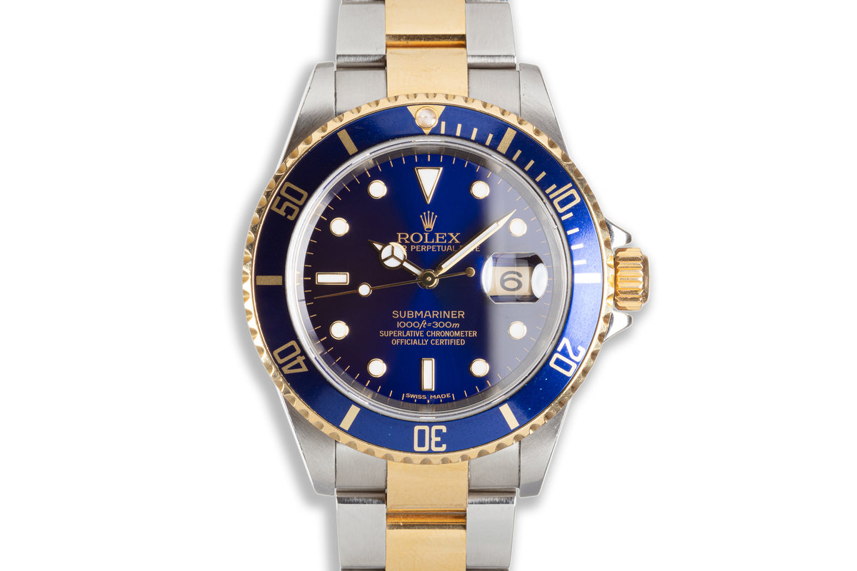 2006 Rolex Two-tone Submariner 16613 Blue Dial photo, #0