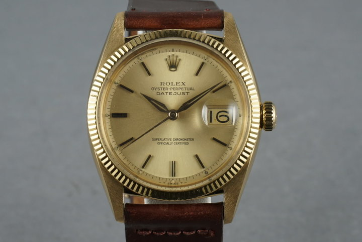 1957 Rolex Datejust 18K 6605 photo