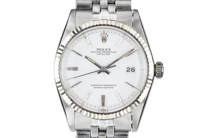 1970 Rolex DateJust 1601 White Dial photo