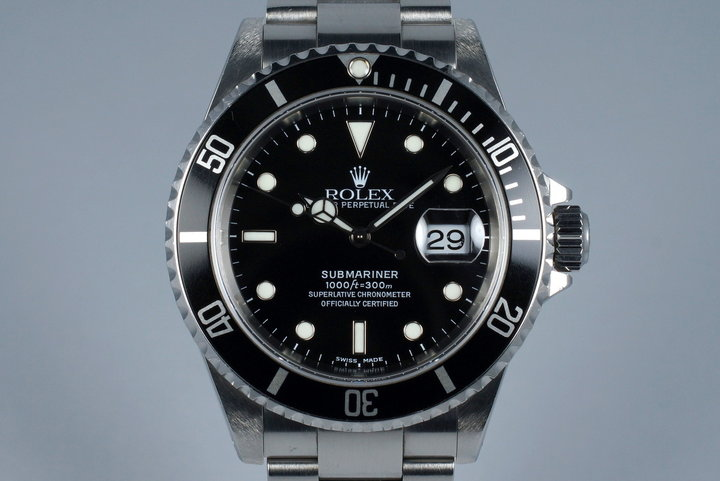 2002 Rolex Submariner 16610 with Box and Japanese Papers photo