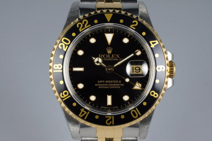 1991 Rolex Two Tone GMT II 16713 Black Dial photo