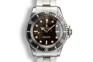 1966 Rolex Submariner 5513 Gilt Tropical Dial photo