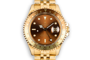 "1993 Rolex 18K YG GMT-Master II 16718 with ""Root beer"" Dial photo"