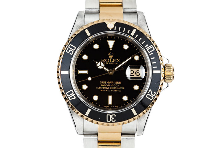 1991 Rolex Two Tone Submariner 16613 photo