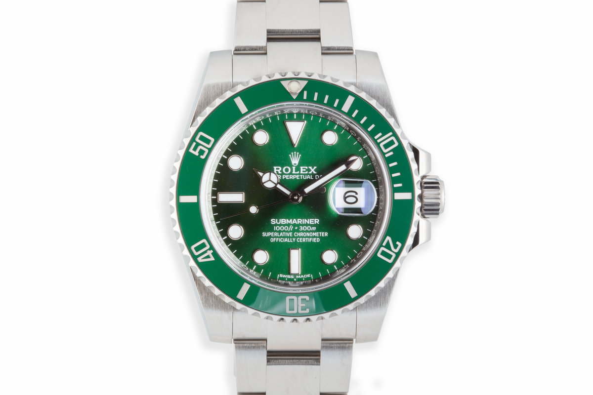 "2016 Rolex Green Submariner 116610LV ""Hulk"" with Box and Papers photo, #0"