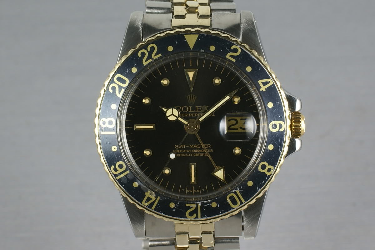Rolex GMT 1675 Two Tone with Black Nipple Dial photo, #0