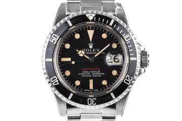 1969 Rolex Red Submariner 1680 with Mark I Long F Meters First Dial photo