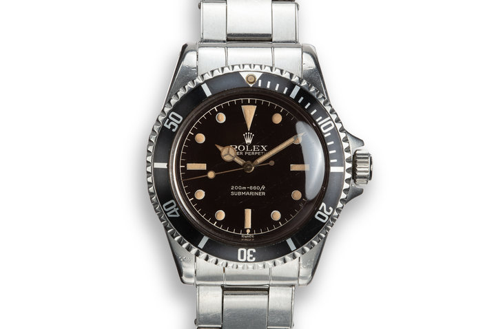 1961 Pointed Crown Guard Submariner 5512 With Gilt Exclamation Dial photo