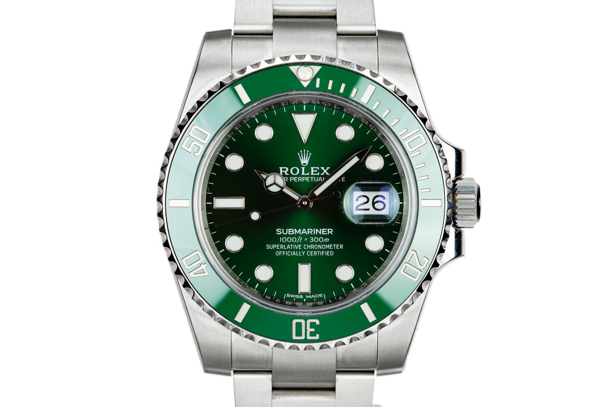 "Mint 2018 Rolex Green Submariner 116610LV ""Hulk"" with Box and Papers photo, #0"