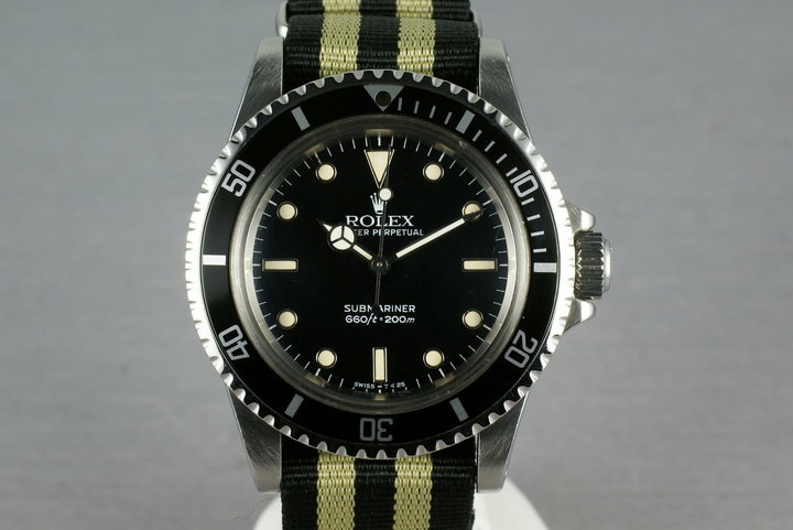Rolex Submariner Dial  5513 WG surrounds on NATO photo