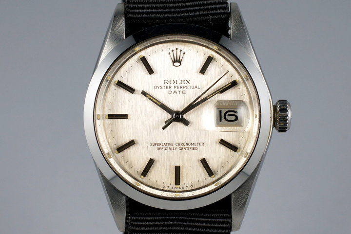 1972 Rolex Date 1500 Brushed Silver Sigma Dial photo