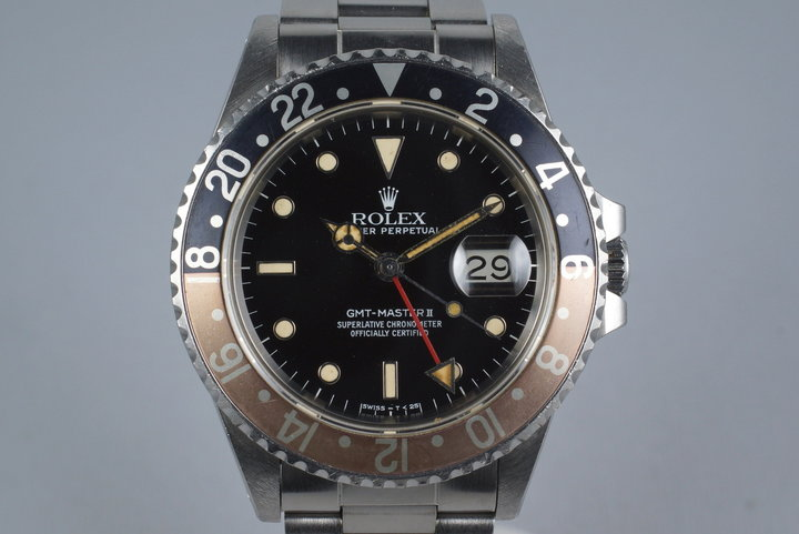 1984 Rolex Fat Lady GMT Master II 16760 with Box and Papers photo