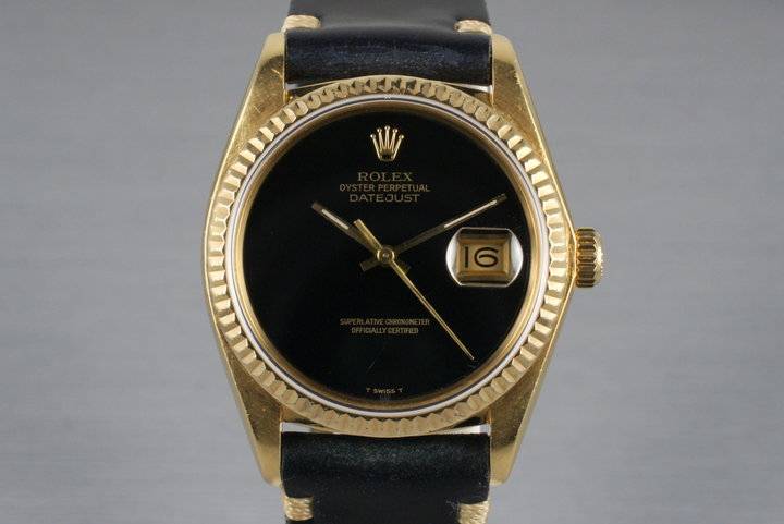1979 Rolex YG DateJust 16078 with Onyx Dial photo
