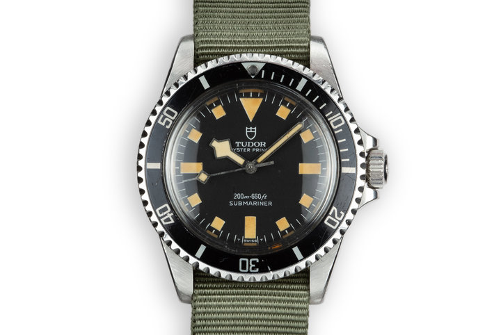 1984 Tudor Snowflake Submariner 94010 Black Dial photo