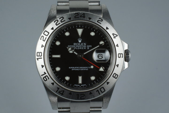 2002 Rolex Explorer II 16570 with Box and Papers photo