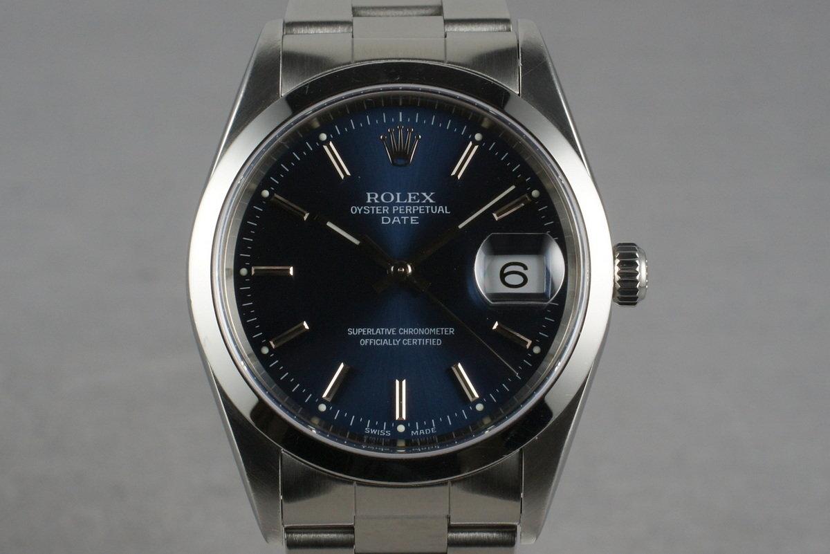 1998 Rolex Blue Dial Date Ref: 15200 photo, #0