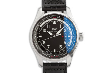 2016 Pilot's Watch Worldtimer IW326201 with Box & Card photo