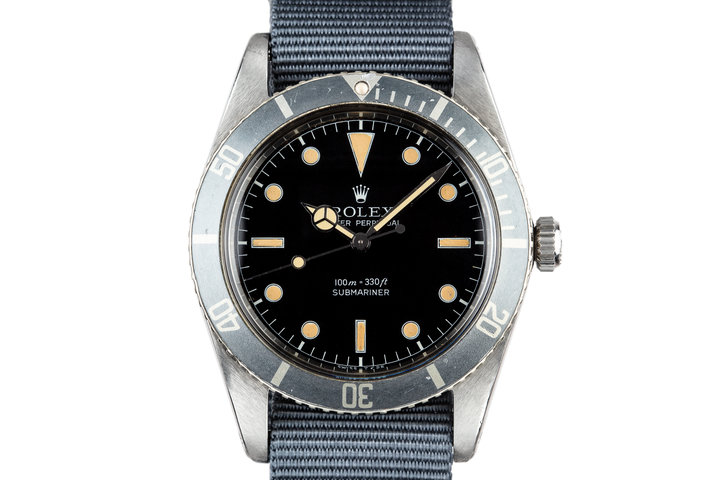 1959 Rolex Submariner 5508 Tritium Service Dial with Box and Papers photo
