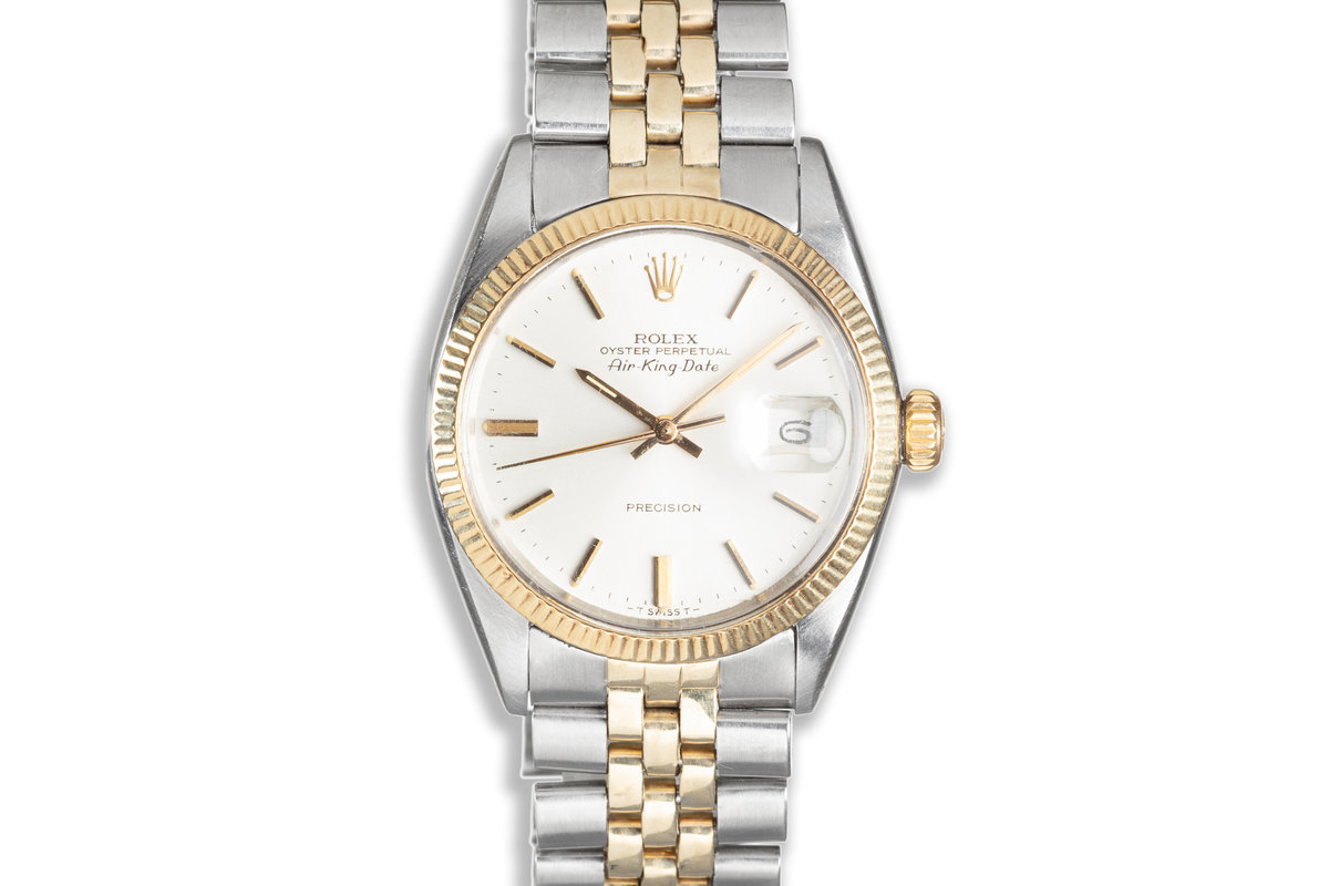 1966 Vintage Rolex Two Tone Air-King-Date 5701 with Papers photo, #0
