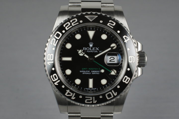 2009 Rolex GMT II 116710LN with Box and Papers photo