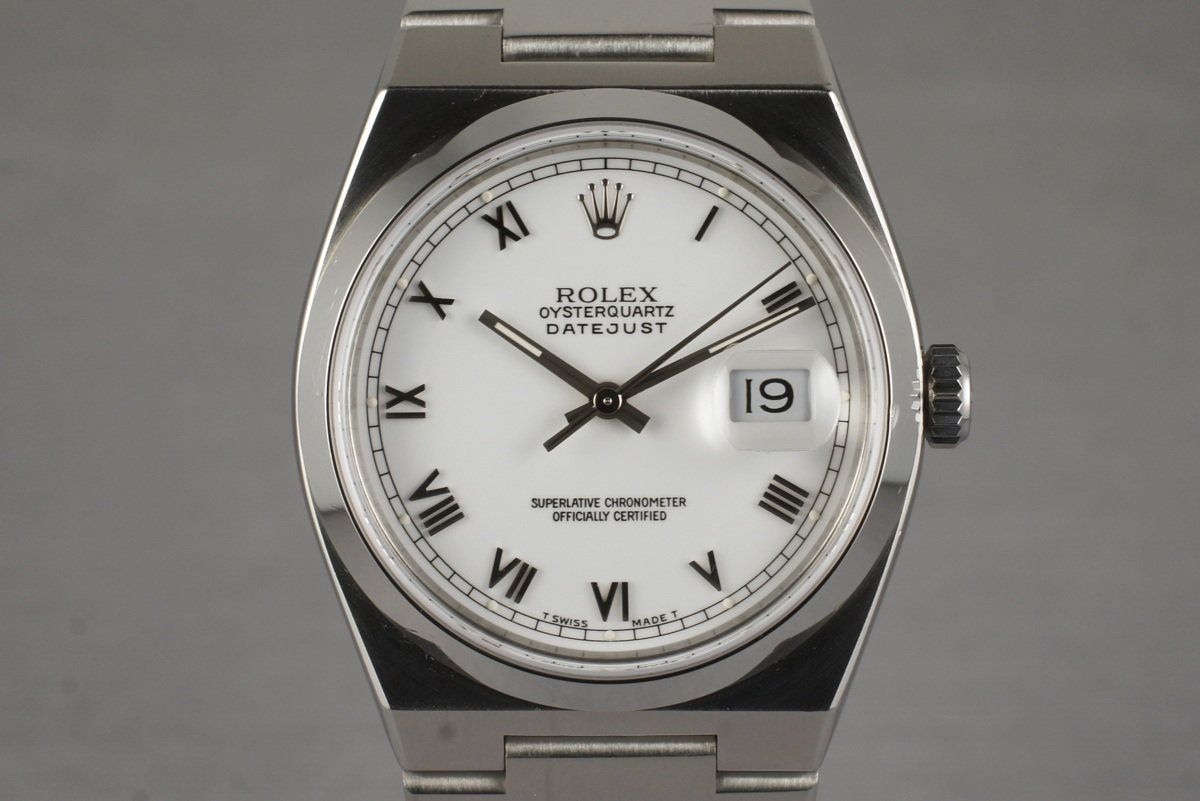 1991 Rolex OysterQuartz DateJust 17000 with Box and Papers photo, #0