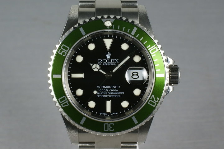 Rolex Green Submariner 16610 LV Mark 1 dial with Box and Papers photo