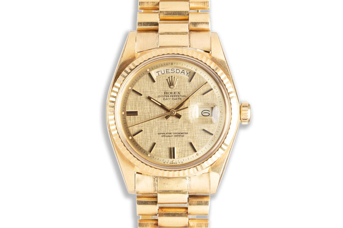 1973 Rolex Day Date 1803 Linen Pie Pan Sigma Dial photo, #0